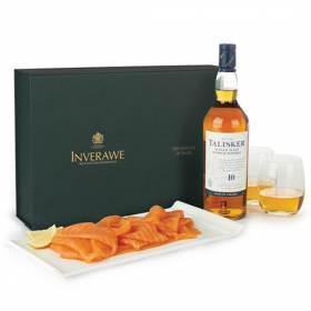 Talisker Malt Whisky & 200g Smoked Salmon Gift Box | Inverawe Smoked Salmon