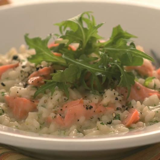Lemon Risotto with Loch Etive Trout