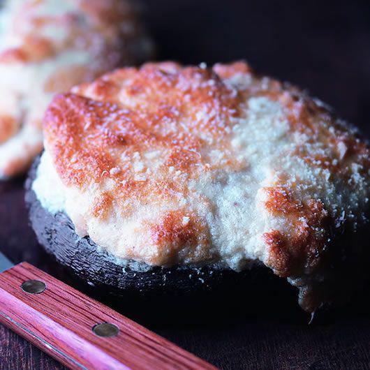 Smoked Haddock Soufflé baked in a mushroom